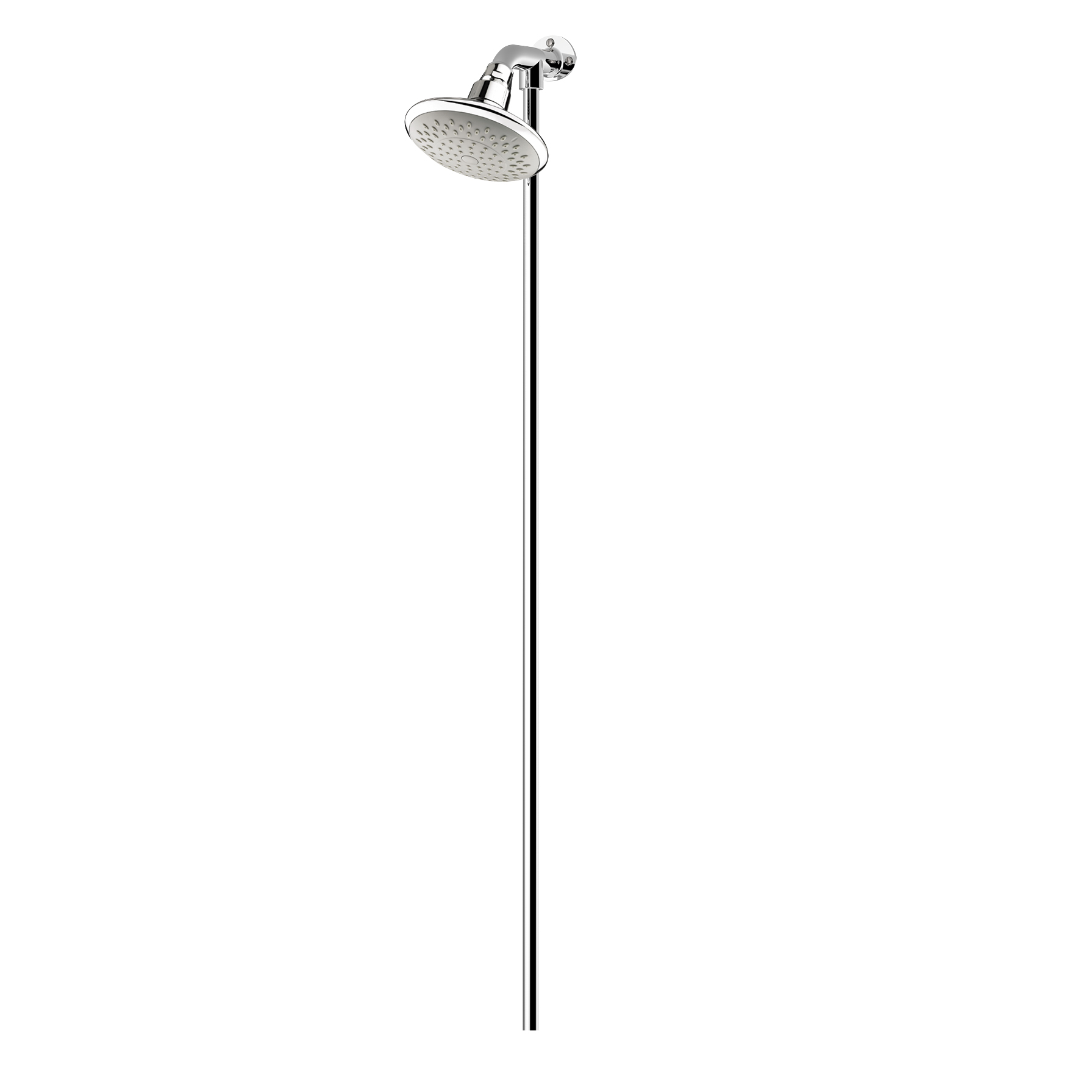 Fixed Shower Head with Rigid Riser