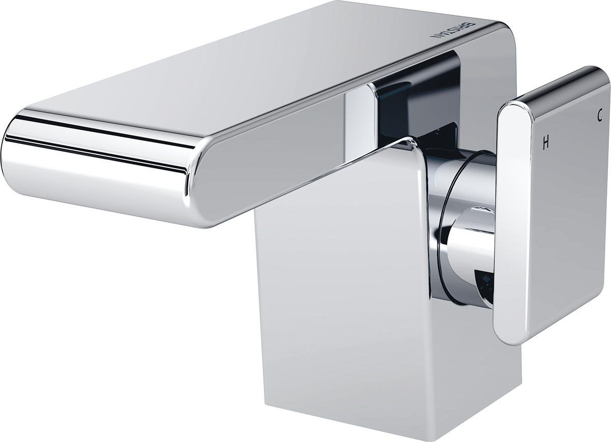 Side Action Basin Mixer with Clicker Waste